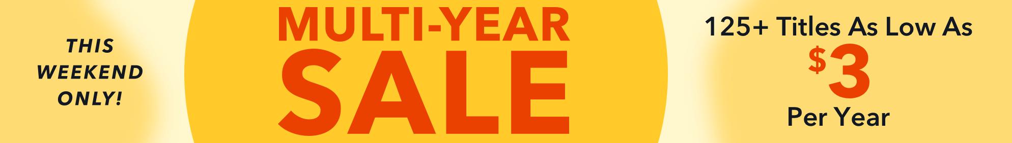Multi-Year Sale- Jun 18