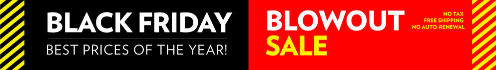Black Friday Blowout Sale!