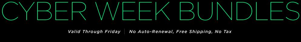 Cyber Week Bundles
