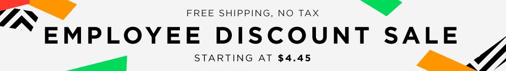 Employee Discount Sale - November 2016