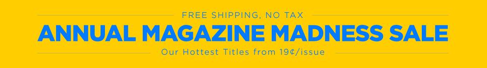 Magazine Madness Sale 2016