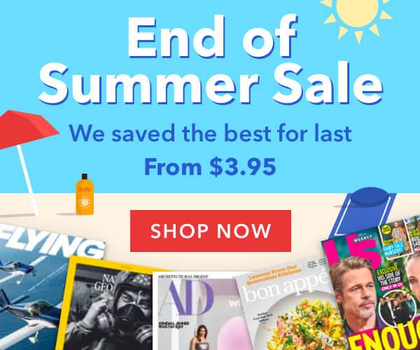 🌞End of Summer Magazine Sale