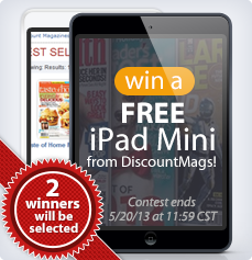 Win a FREE iPad Mini from DiscountMags!
