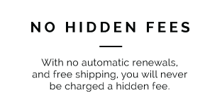 No Hidden Fees!