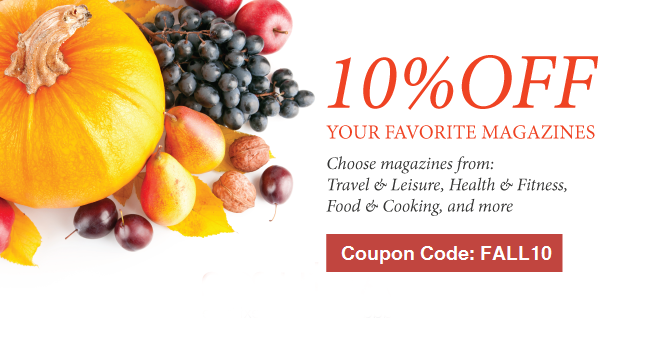 10% OFF Favourite Magazines