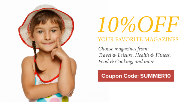 10% OFF Favorite Magazines