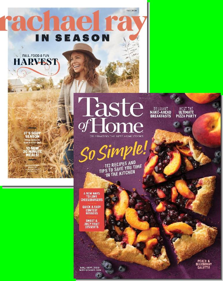 Rachael Ray & Taste of Home Bundle