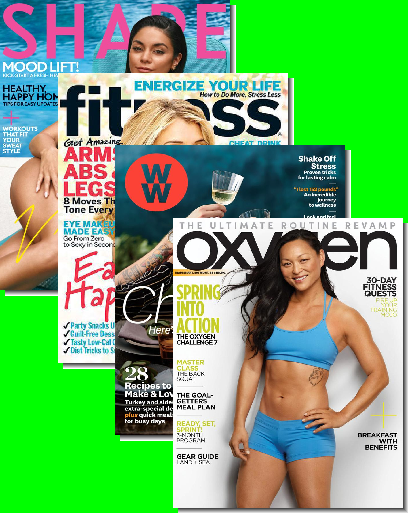 Choice of 2 Women's Fitness Magazine Subscriptions