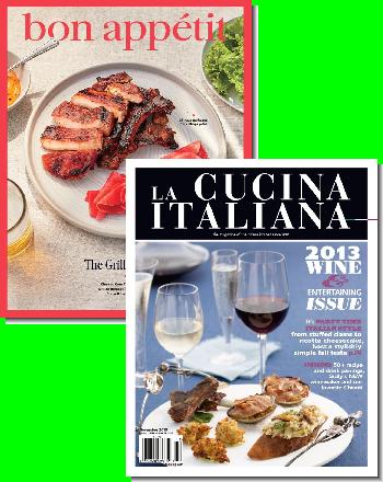 Bon Appetit &  La Cucina Italiana Bundle