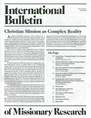 International Bulletin of Missionary Research Magazine