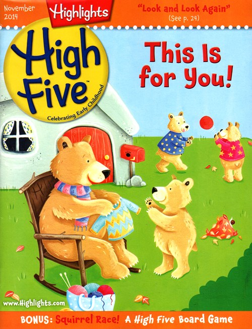 Kids Love the Magazine That's All Their Own! Your preschooler or kindergartner will love High Five™ magazine, because it's designed and written just for their age group. High Five is an exciting, colorful, fun-filled magazine developed by the early childhood experts at Highlights to encourage and inspire tender hearts and curious young realmmaster-radio.ga: