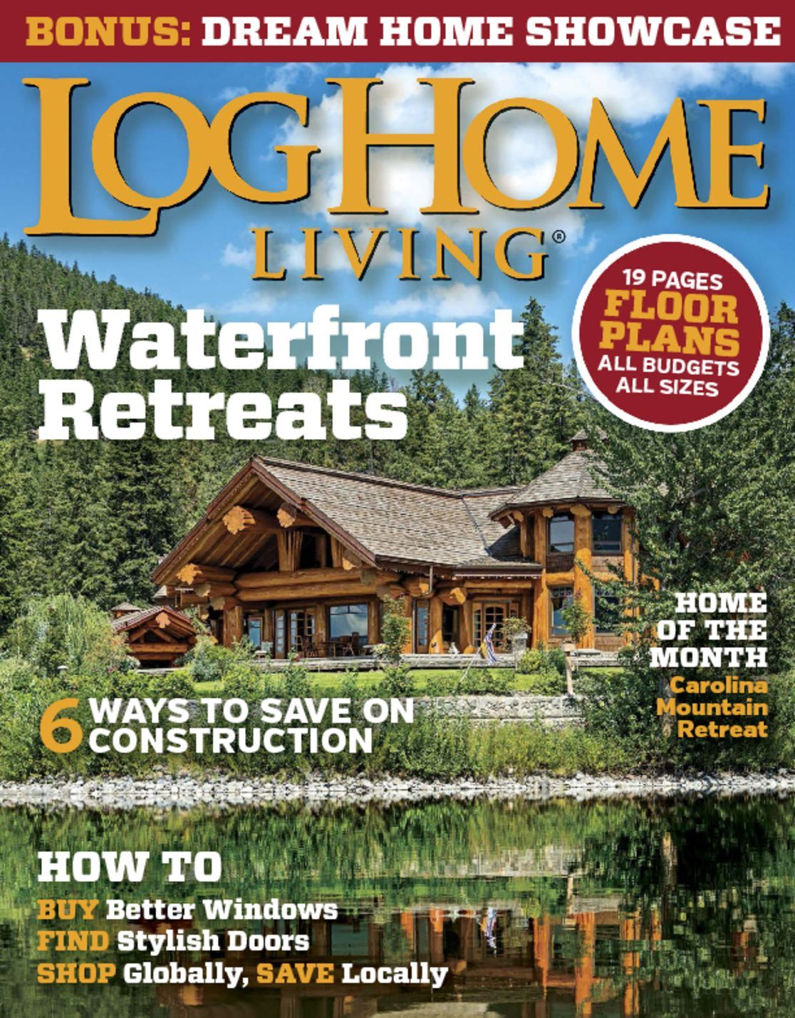 4916 Log Home Living Cover 2015 May