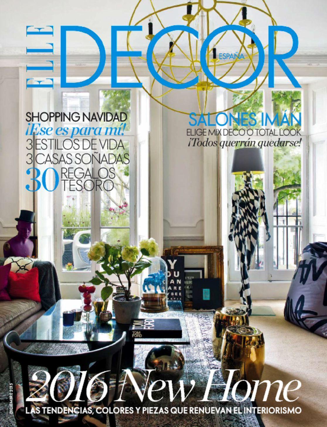 5667 elle decor cover 2015 december. Black Bedroom Furniture Sets. Home Design Ideas