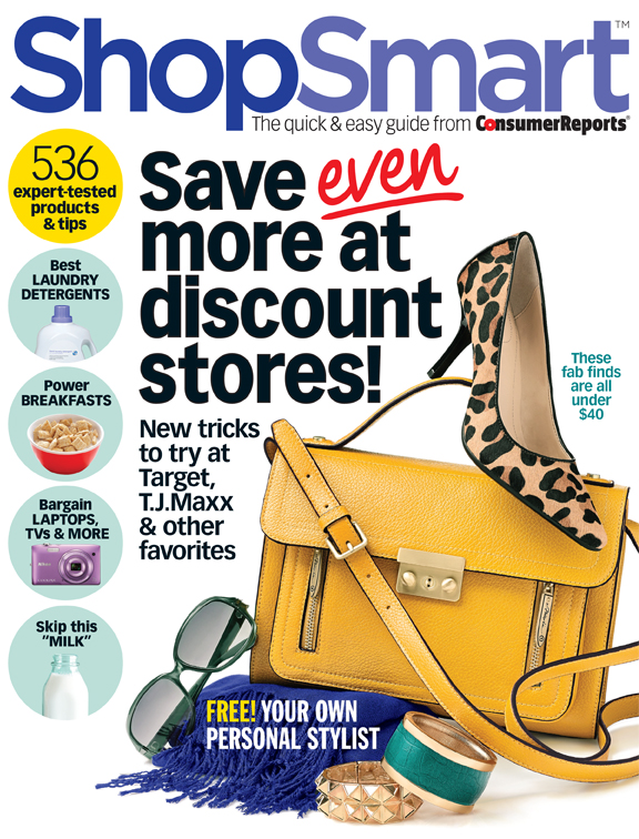 Consumer Reports ShopSmart Magazine $14.96 Per Year Today Only! (List $49.90)