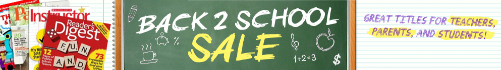 Back 2 School Sale