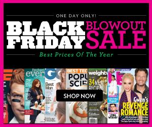 Magazine Black Friday Blowout Sale: Mens Health $4.89/yr, Kiplingers Finance $4.99/yr, Slam $0.99/yr, Us Weekly $9.99/yr, Popular Photography $3.99/yr, Motor Trend $3.49/yr, & More